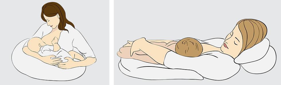 Varier les positions pour allaiter son bébé, cela évite les points douloureux dus à la répétition de la succion aux mêmes endroits