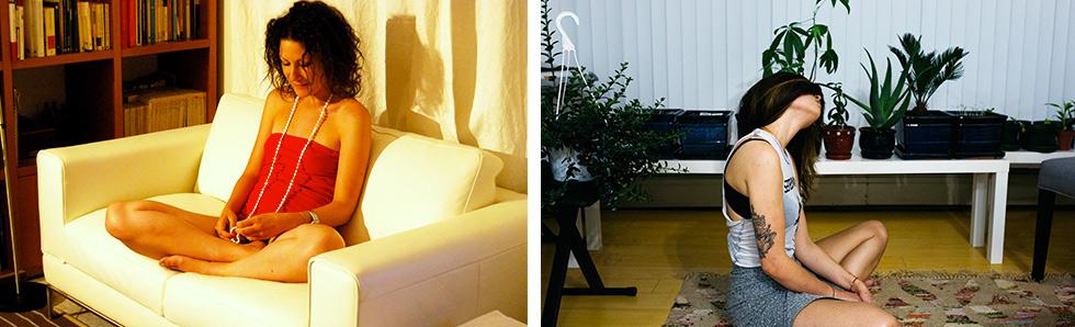 Vous pouvez méditer n'importe où chez vous : canapé, tapis, parquet...