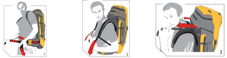 Il est important de bien sangler son sac avant de partir en randonnée