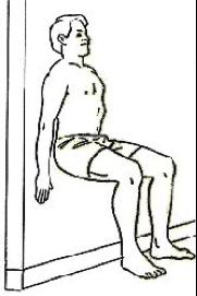 L'exercice de la chaise est préconisé dans les cas de syndrome rotulien