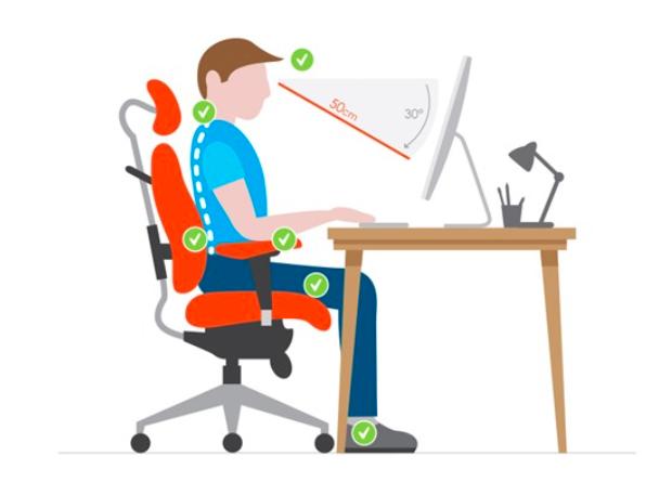La bonne posture au travail