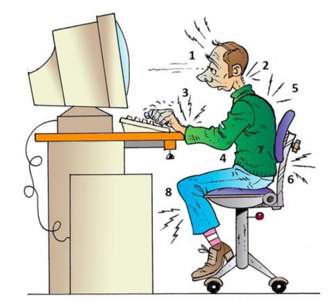les erreurs de posture au travail
